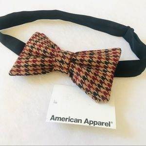 American Apparel gingham checkered plaid bow tie